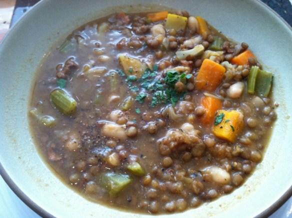 Sausage lentil soup Credo