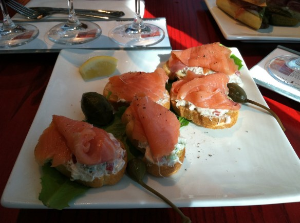 Smoked salmon rolls Vino Volo