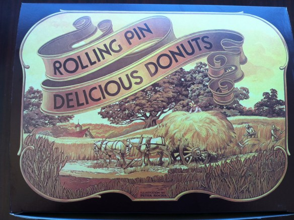 Box top Rolling Pin Donuts