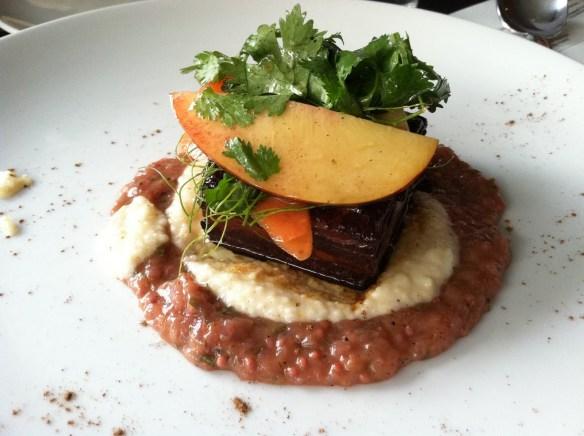 Pork belly Eos Restaurant