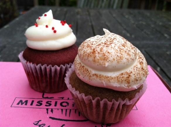 Red velvet cinnamon horchata cupcakes Mission Minis