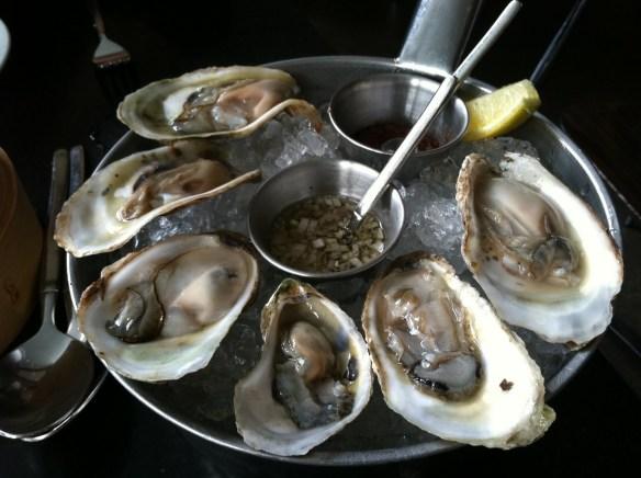 Fanny Bay oysters Eos Restaurant