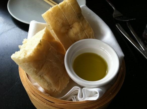 Focaccia bread Eos Restaurant