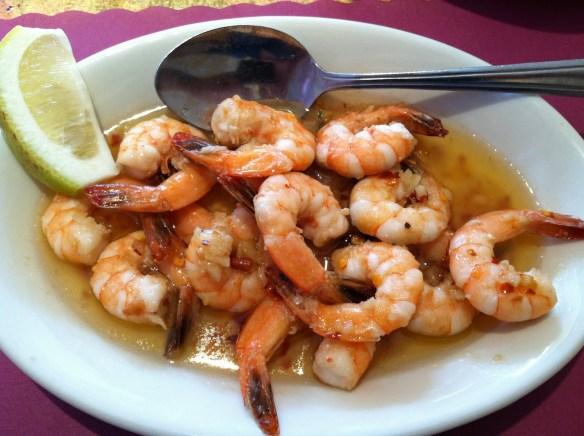 Garlic shrimp Esperpento