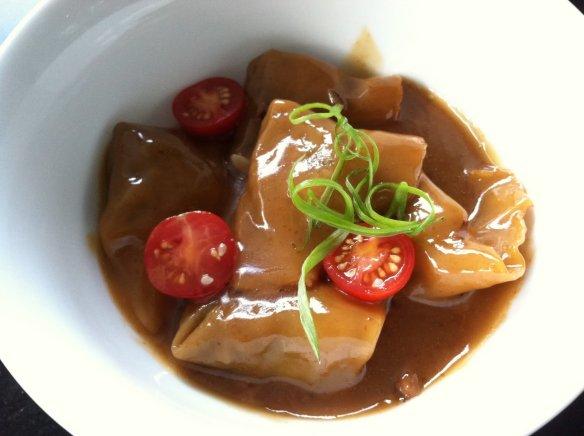 Shiitake mushroom dumplings Eos Restaurant