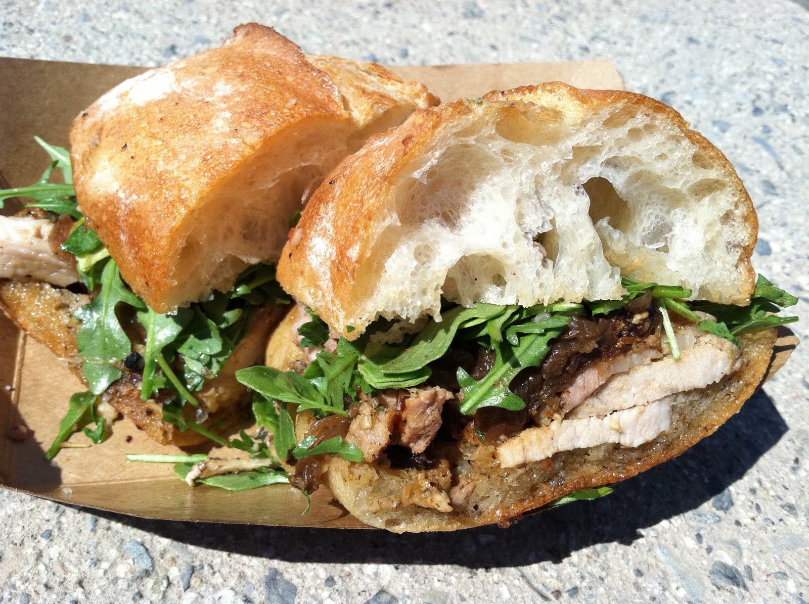 deep fried sous vide 36 hour all belly porchetta porchetta sandwich ...