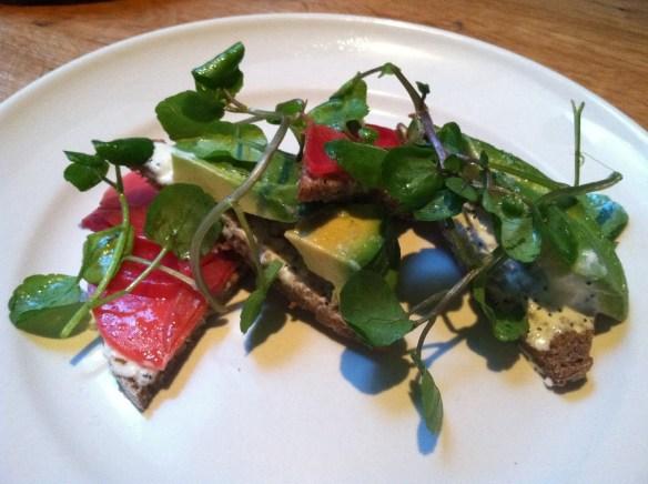 Chioggia beet salad Bar Agricole