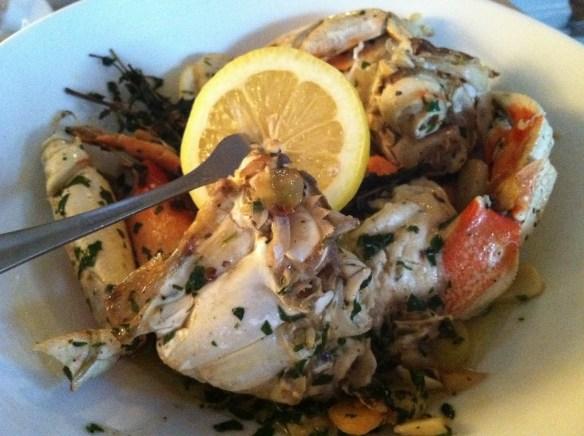 Garlic dungeness crab Anchor Oyster Bar