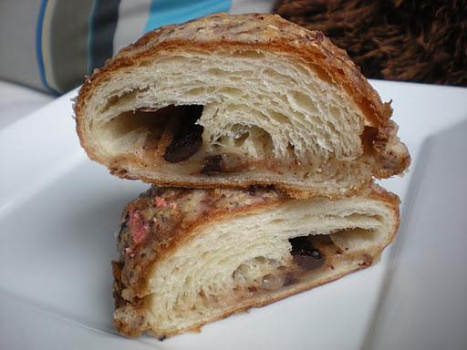Chocolate hazelnut croissant La Boulange de Noe