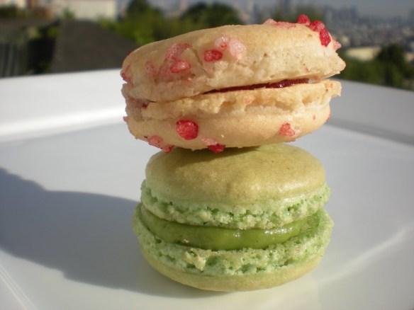 Cherry & Pistachio macarons La Boulange de Noe
