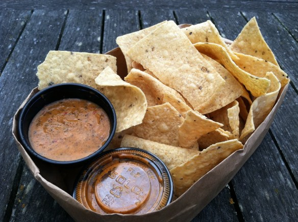 Chips and salsa Papalote Mexican Grill