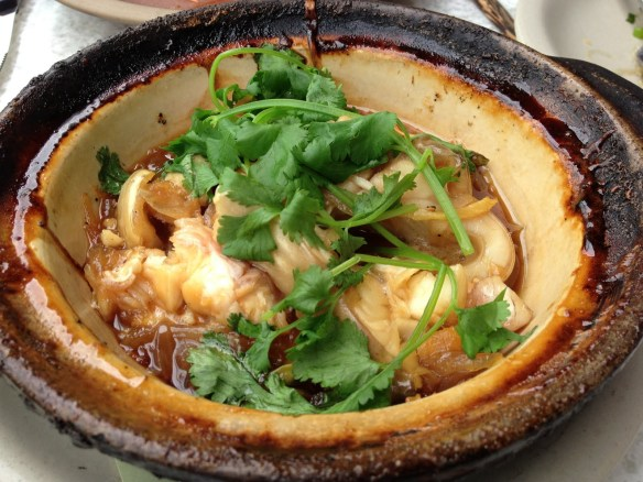 Caramelized catfish claypot The Slanted Door