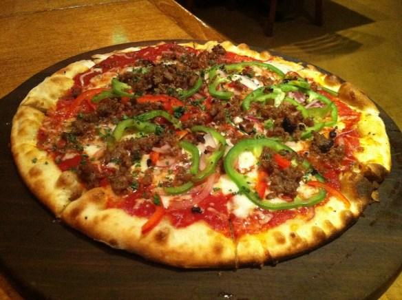 Italian sausage pizza Firewood Cafe