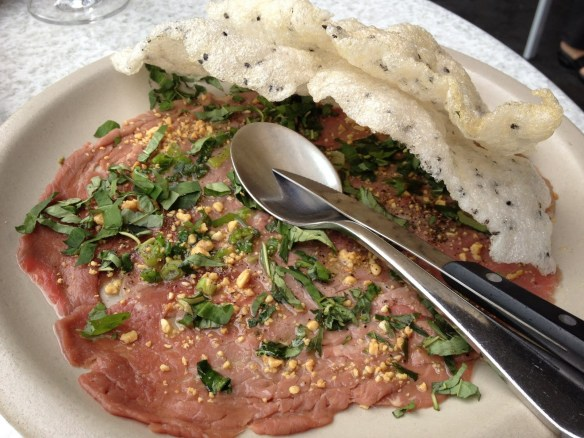Prather Ranch beef carpaccio The Slanted Door