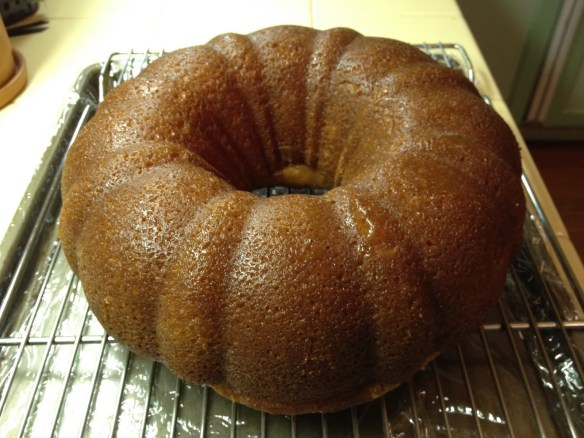 filled unglazed rum cake