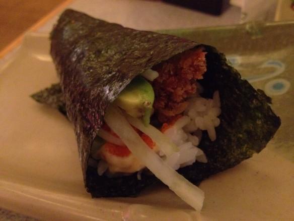 Cajun hand roll Tenka Japanese Restaurant