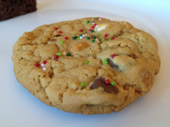 Chewy mixed chip holiday cookie