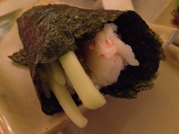 New York hand roll Tenka Japanese Restaurant