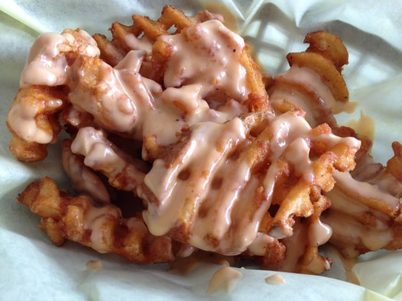 Cheddar beer fries Phat Philly