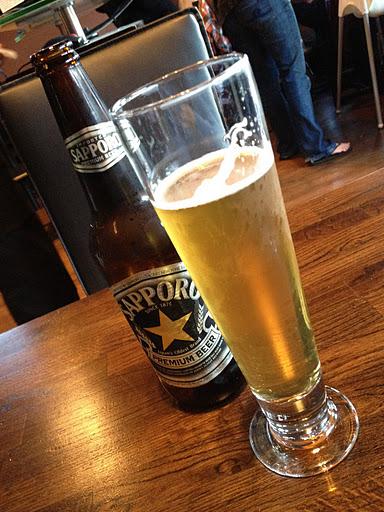 Sapporo beer Kama Sushi