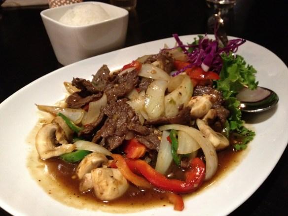 Krua's zesty beef Krua Thai