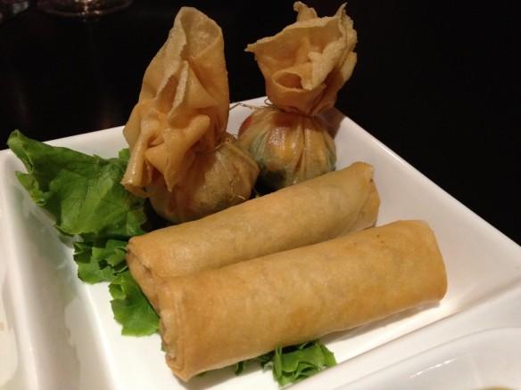 Gold bags & crispy egg rolls Krua Thai
