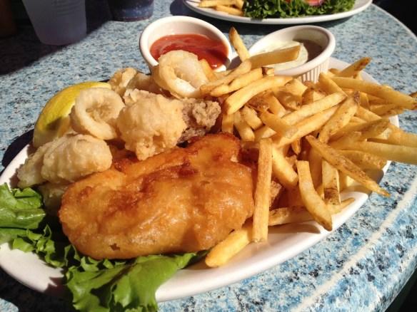 Fish and calamari fritto The Ramp