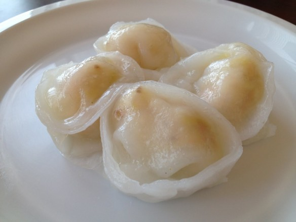 Scallop and garlic dumplings Hung To Seafood
