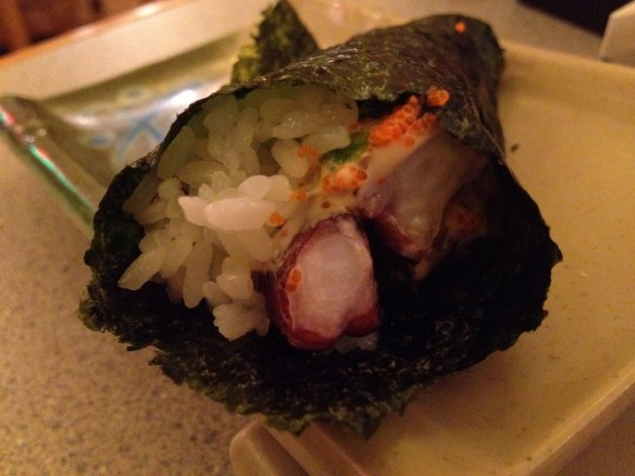 Spicy tako hand roll Tenka Japanese Restaurant