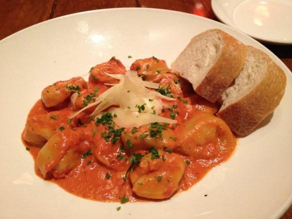 Rock shrimp tortellini Firewood Cafe