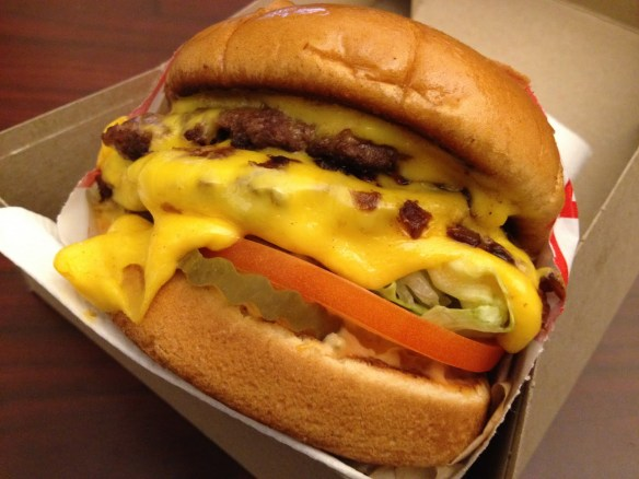 Double double animal style In-N-Out Burger