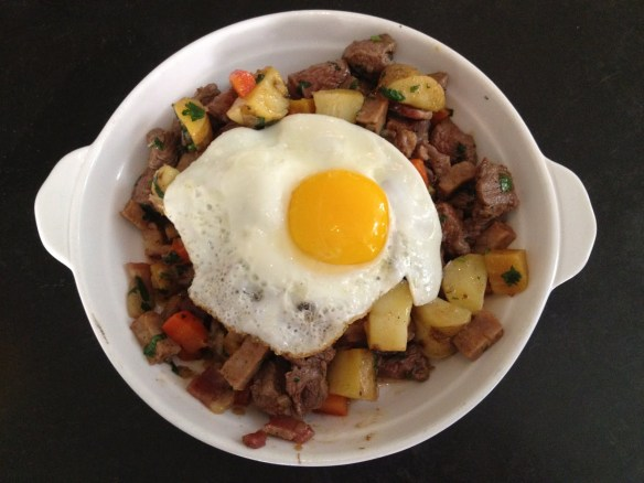 Ola's steak and potato hash Jones