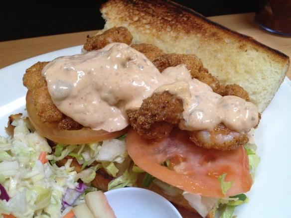 Fried shrimp po' boy Brenda's French Soul Food