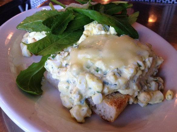 Warm egg salad sandwich Il Cane Rosso