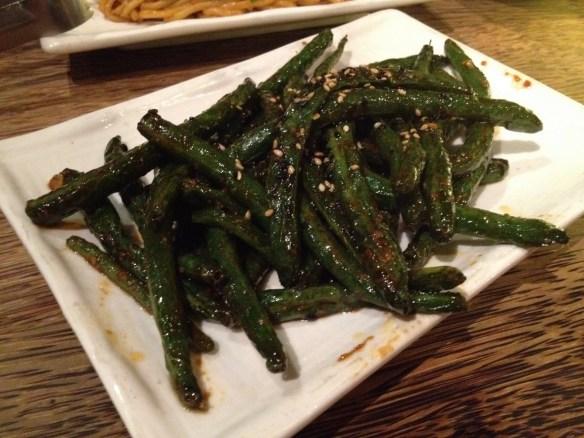 Szechuan green beans Mercury Lounge