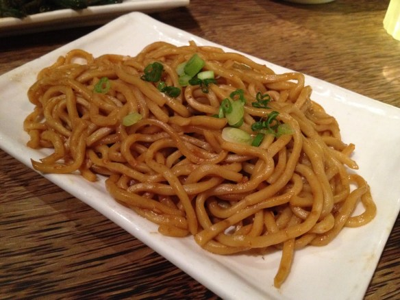 Spicy garlic noodles Mercury Lounge