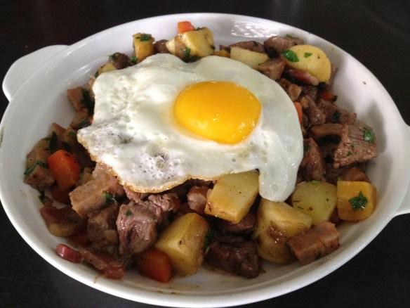 Ola's steak and potato hash Jones