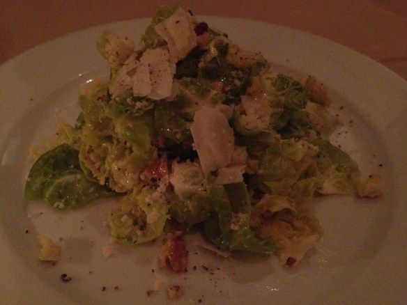 Brussels sprouts salad Johannes Restaurant