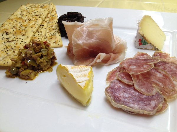 Salumi cheese and tapenade