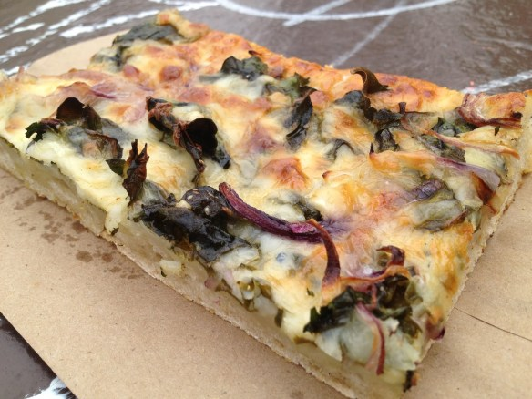 Chard and mozarella focaccia Arizmendi Bakery