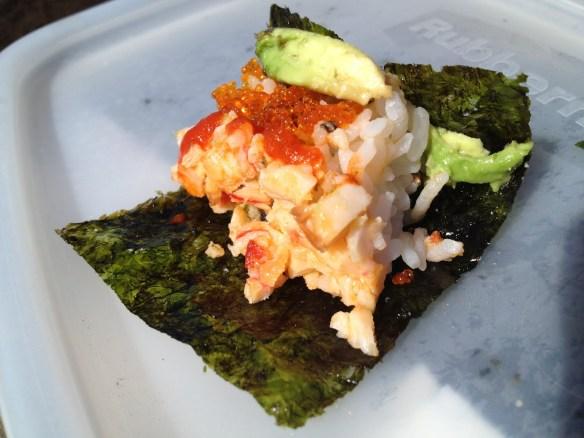 imitation crab sushi
