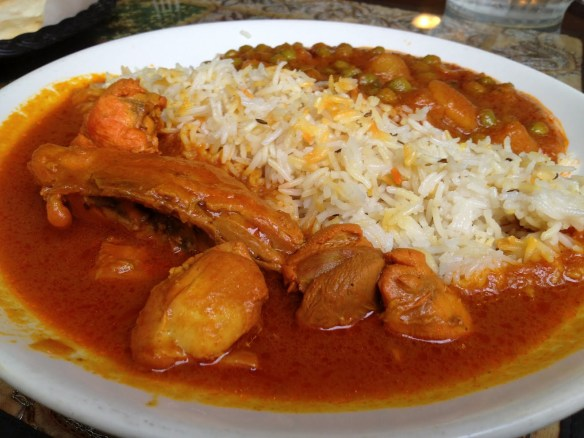 Chicken curry lunch special Punjab Kabab House