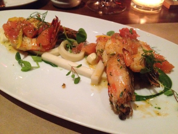 Whole roasted gulf prawns RN74