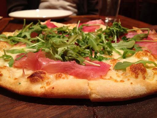 Prosciutto pizza Firewood Cafe