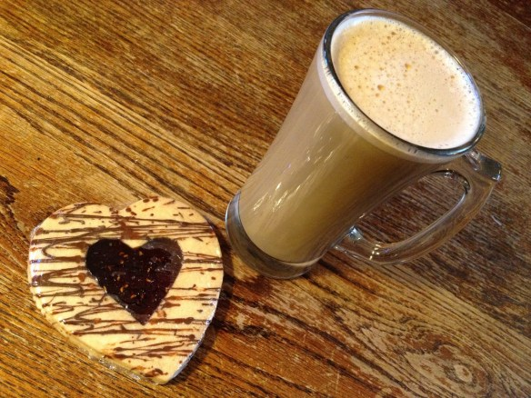 Latte raspberry shortbread cookie Simple Pleasures Cafe