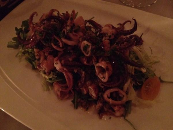 Marinated grilled calamari Fish & Farm