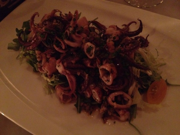 Marinated grilled calamari Fish & Farm
