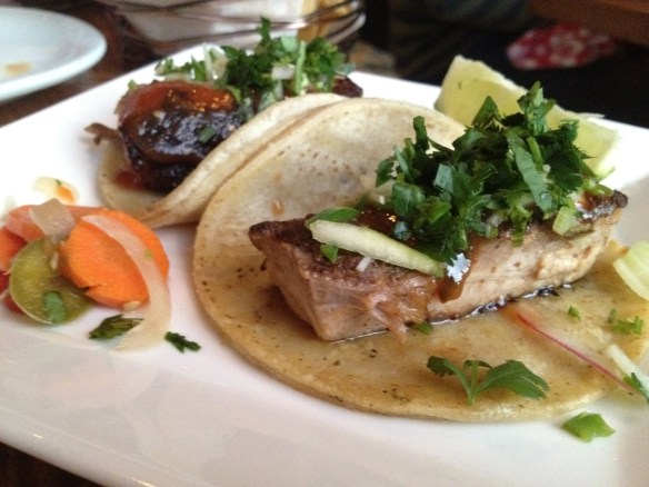 Achiote braised pork belly tacos Tacolicious