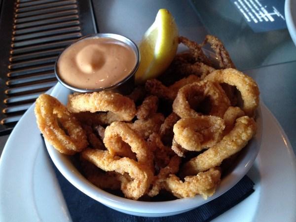 Cornmeal dusted calamari Hubbard Grille