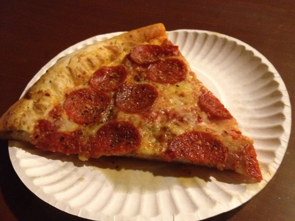 Pepperoni pizza Mikey's Late Night Slice